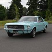 1967 Ford Mustang Watts Poster