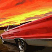 1967 Plymouth Satellite Convertible Poster