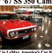 1967 Ss 350 Camaro Scharf Poster