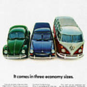 1967 Volkswagen Beetle Squareback And The Box Poster