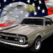 1968 Camaro Ss Tribute Poster