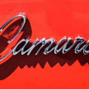 1969 Chevrolet Camaro Z-28 302 Emblem -0152c Poster