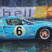 1969 Le Mans 24 Ford Gt40 Jacky Ickx Jackie Oliver Winner Poster
