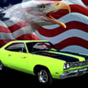 1969 Plymouth Road Runner Tribute Poster