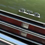 1969 Pontiac Gto Taillight Emblem Poster