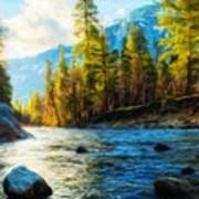 Nature Oil Painting Landscape Poster