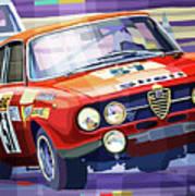 1970 Alfa Romeo Giulia Gt Poster
