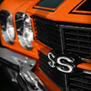 1970 Chevelle Ss396 Ss 396 Orange Poster