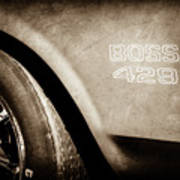 1970 Ford Mustang Boss 429 Wheel Emblem -0370s Poster