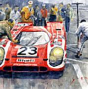 1970 Le Mans 24 Porsche917k Attwood Herrmann Winner  Poster