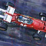 1970 Monaco Gp Ferrari 312 B Jacky Ickx  Poster