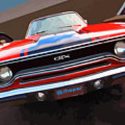1970 Plymouth Gtx Vectorized Poster
