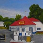 1970s Gas Station Poster