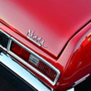 1971 Chevy Nova - Red Poster