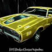 1971 Dodge Charger Superbee - Electric Poster