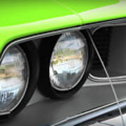 1971 Plymouth Barracuda Cuda Sublime Green Poster