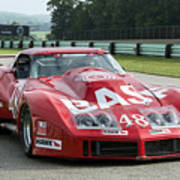 1972 Chevy Corvette At Road America Poster