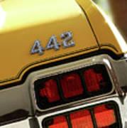1972 Oldsmobile Cutlass 4-4-2 Poster by Gordon Dean II