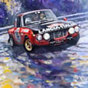 1972 Rallye Monte Carlo Lancia Fulvia 1600hf Munari Mannucci Winner Poster