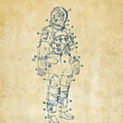 1973 Astronaut Space Suit Patent Artwork - Vintage Poster