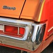 1973 Plymouth Scamp Tail Lights And Logo Poster