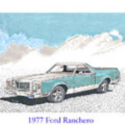 1977 Ford Ranchero Poster