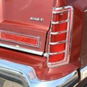 1977 Lincoln Continental Mark V With Tail Lights And Logo Poster