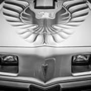 1979 Pontiac Trans Am Hood Firebird -0812bw Poster