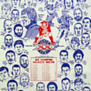 1985 New England Patriots Superbowl Newspaper Poster Poster