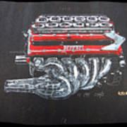 1990 Ferrari F1 Engine V12 Poster