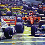 1992 Monaco Gp Start  Poster