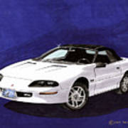 1995 Camaro Convertible Poster