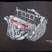 1996 Ferrari F1 V10 Engine Poster