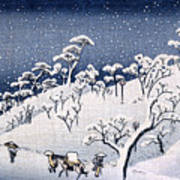 19th C. Snow On Asuka Hill Poster