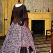 19th Century Plaid Dress Poster