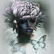 Sensual Beautiful Dahlia Poster