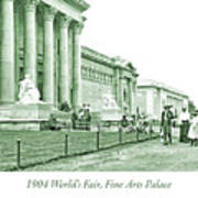 1904 World's Fair, Fine Arts Palace Poster