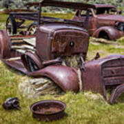 Abandoned Cars, Bodie Ghost Town Poster