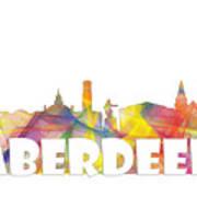 Aberdeen Scotland Skyline Poster