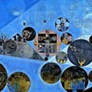 Abstract Painting - Tufts Blue Poster