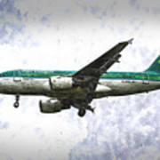 Aer Lingus Airbus A319 Art Poster
