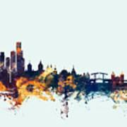 Amsterdam The Netherlands Skyline Poster