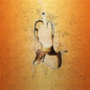 An Obscene Hand Sign Poster