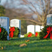 Arlington National Cemetery At Christmas Poster