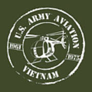 Army Aviation Vietnam Poster