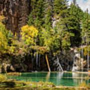 Autumn At Hanging Lake Waterfall - Glenwood Canyon Colorado Poster