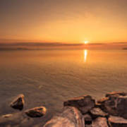 Sunrise At Sibbald Point Poster