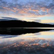 Autumn Sunset, Ladybower Reservoir Derwent Valley Derbyshire Poster