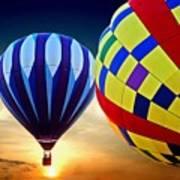 2 Balloons Poster