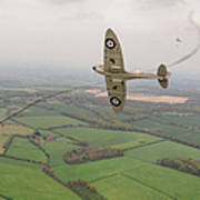Battle Of Britain Spitfire  Poster